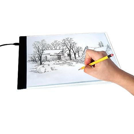 A4 Ultra Thin Led Art Stencil Board Light Pad Tracing Drawing Pad