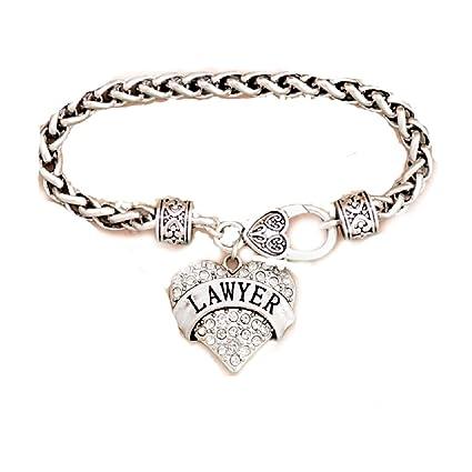 Amazon.com: Abogado grabado pulsera adornado con colgante de ...