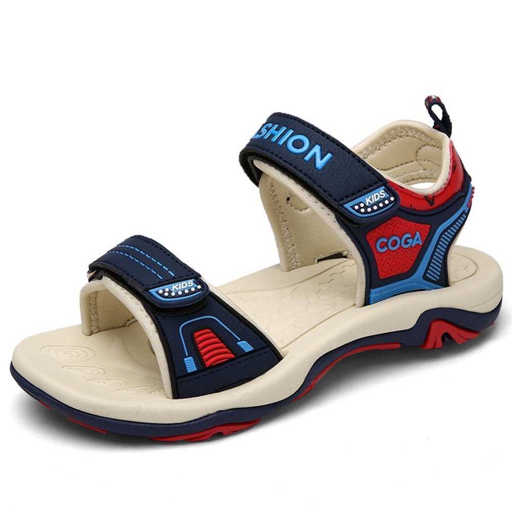 Gagre Little Big Kids Boys Skidproof Summer Walking Sandals Navy Blue 34 4 M US Big Kid