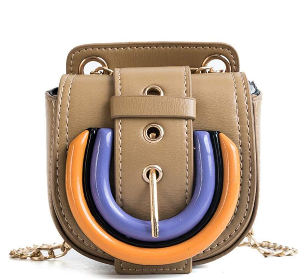 LNNN Girls Color Small Bag Chain Shoulders Fashion Cute Wild Messenger