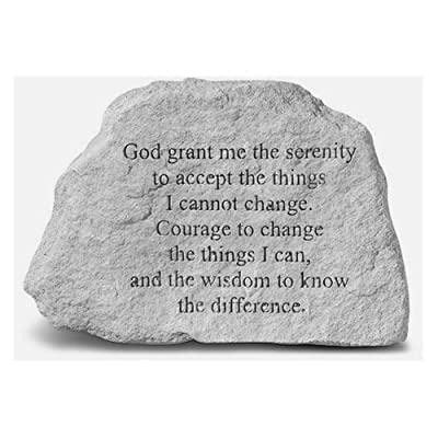Kay Berry- Inc. 73420 God Grant Me The Serenity To Accept The Things - Memorial - 6.5 Inches x 4.5 Inches : Outdoor Decorative Stones : Garden & Outdoor