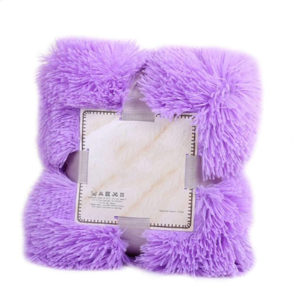 YAOBAO Super Soft Shaggy Blanket,Plush Microfiber Blanket Fuzzy Faux Fur Warm Cozy, 160X200CM,Purple