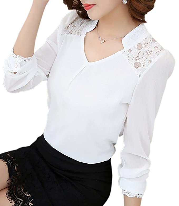 Edwardian Style Blouses  Lace Long Sleeve Elagent Blouse(US0-US12) $14.99 AT vintagedancer.com