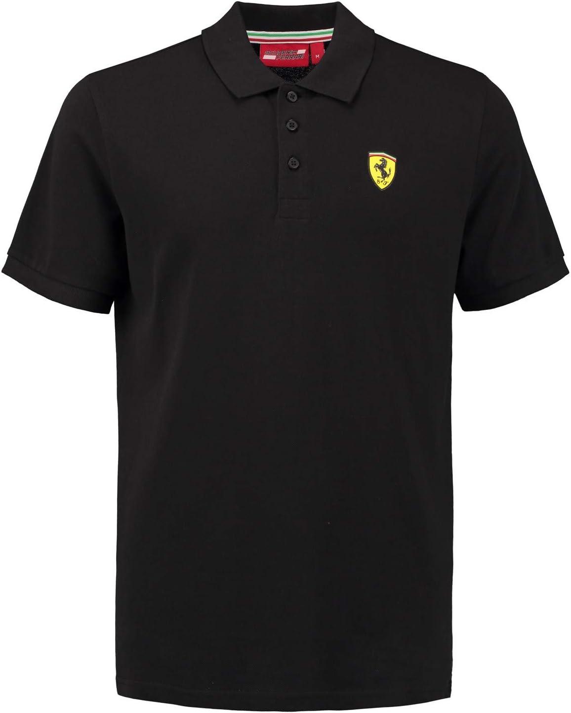 stile classico Polo da uomo in piqu/é di cotone Ferrari Scuderia 2018 taglie XS-XL
