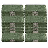 BQLZR Green Silk Satins Wood Oboe Reed Box Reed Case with Flannel Slot Inside for 3-Reeds Pack of 20