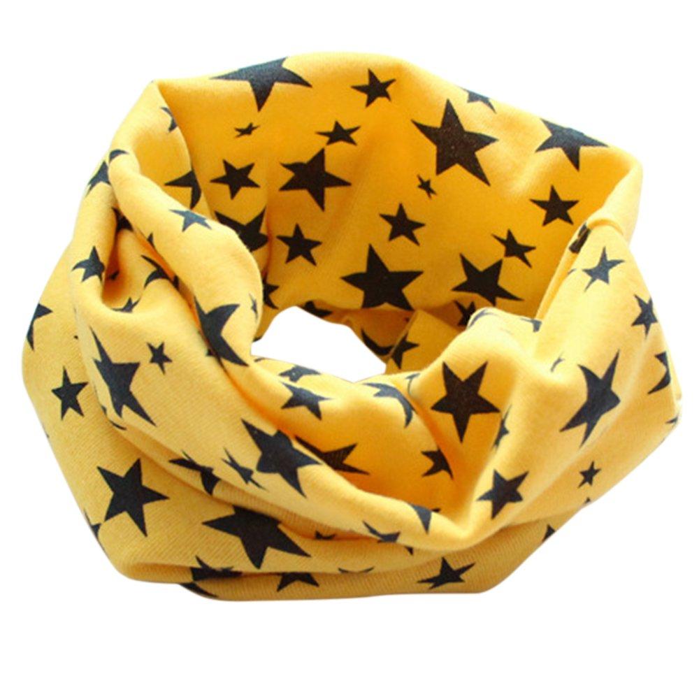Sukisuki Stars Kids Boys Girls Scarf Cotton Baby Neck Warmer for Winter Autumn