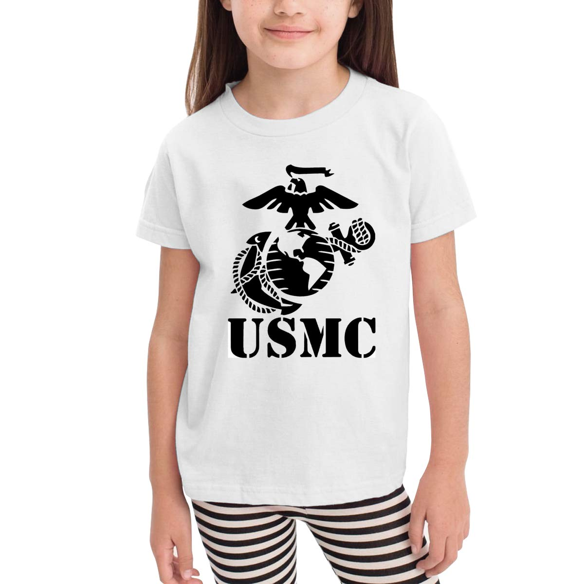US Marine Corps Eagle Globe Anchor 100/% Cotton Toddler Baby Boys Girls Kids Short Sleeve T Shirt Top Tee Clothes 2-6 T