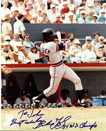 World Series Champs 1984 (Autographed Barbaro Garbey Photo - 1984 World Series Champs 8x10 Tigers - Autographed MLB Photos)