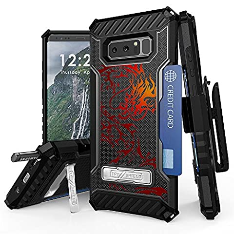 Galaxy Note 8 Case, Spots8 Dual Layer Hybrid Armor Rugged Bumper Protection Phone Cover With Screen Protector Swivel Holster Phone Strap Built in kickstand And Card Slot Tribal Color (Galaxy Note 8 Bundle)