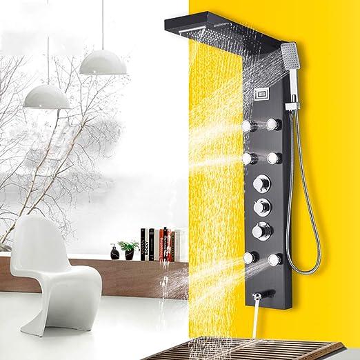 Onyzpily - Columna de ducha con termostato (acero inoxidable ...
