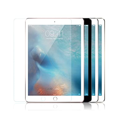 432bc5b881f1dc JJPRIME – Clear 1pcs Full Coverage Tempered Glass Screen Protector for  Apple iPad - 9.7 inch