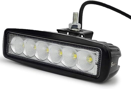 6x 18W LED Arbeitsscheinwerfer 12V 24V Offroad Scheinwerfer Flutlicht IP67 Jeep