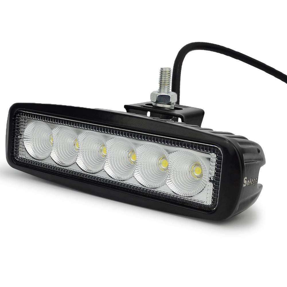 Barra de luz de Punto de inundaci/ón de 12 180W 14400LM Luces de Carretera de Color /ámbar Blanco para cami/ón con arn/és Safego Barra de luz de Trabajo de luz estrobosc/ópica LED Garant/ía de 1 a/ños