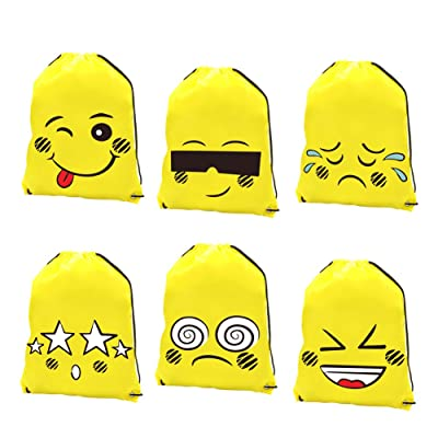 80OFF DrCosy Emoji Drawstring Backpack Bag Party Favor Bags Birthday Supplies