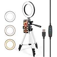 GLCON Selfie Ring Light with Tripod Stand and Phone Holder