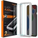 Spigen Tempered Glass Screen Protector [Glas.tR AlignMaster] Designed for Pixel 4a - 2 Pack/Case Friendly