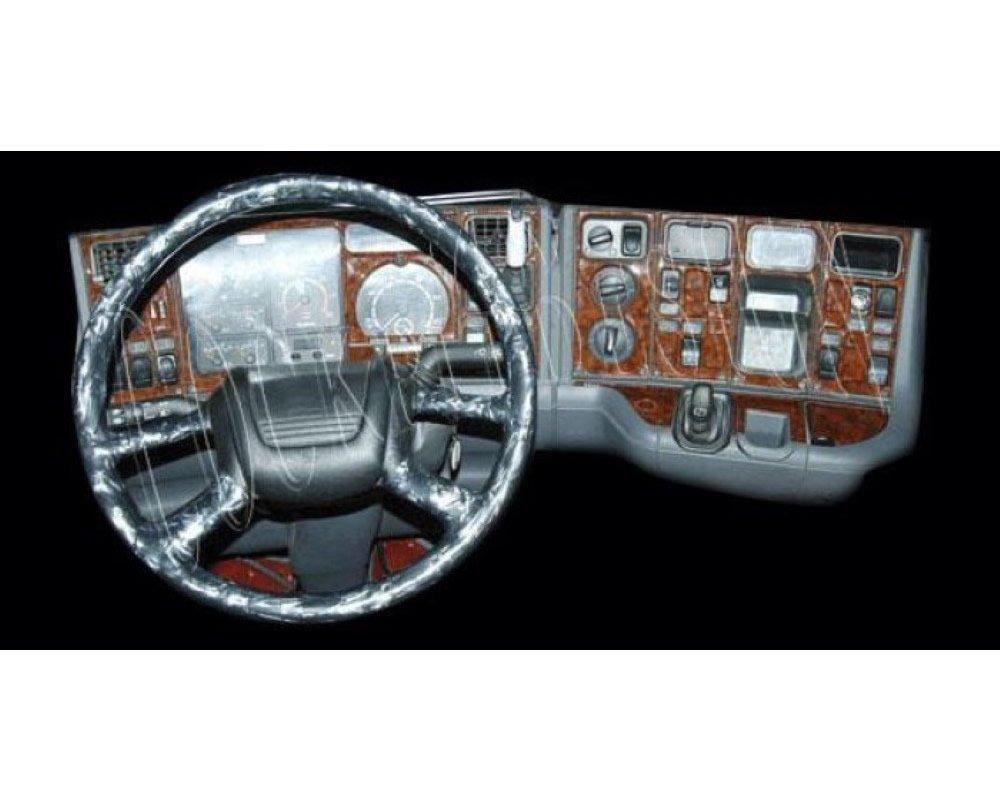 MERIC Cockpit Dé coration (CD-KL00525) Version 3D exclusive, spé cialement pour le vé hicule, 50 Piè ces, Couleur: Laque Piano spécialement pour le véhicule 50 Pièces