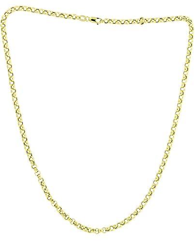 Adara 9 ct Yellow Gold Belcher Chain of Length 40.64 cm 3Nt2khO