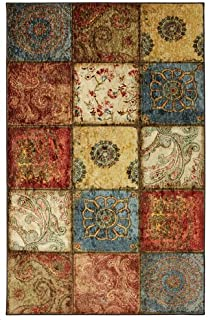 mohawk home free flow artifact panel multicolor patchwork printed area rug - Mohawk Area Rugs