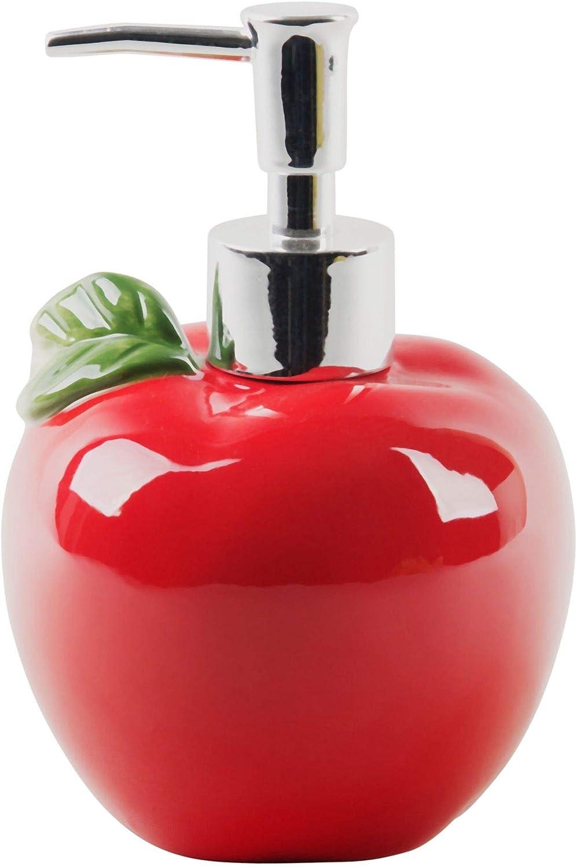 Palais Essentials Refillable Liquid Hand Soap Dispenser for Bathroom, Premium Kitchen Soap and Lotion Dispenser (14 Oz Apple)