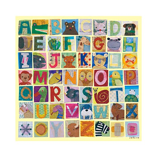 Oopsy Daisy Animal Alphabet Canvas Art, 39'' x 39'' by Oopsy Daisy