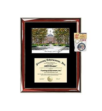 Amazon com : University of Miami Diploma Frame Lithograph
