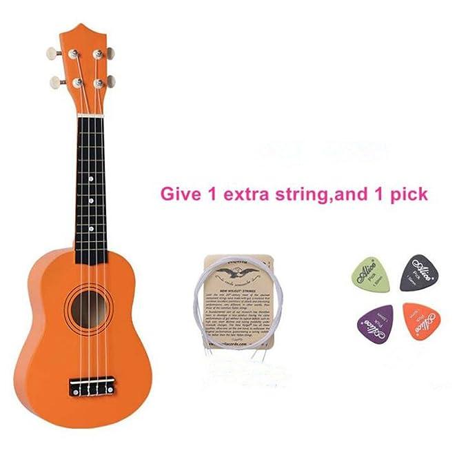 53,34 cm Guitarra / Ukulele colorida para niños con bolsa negra ...