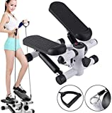 Fitness Cycle - Foot Pedal Exerciser - Foldable Portable Foot, Hand, Arm, Leg Exercise Pedaling Machine - Folding Mini Stationary Bike Pedaler, Fitness Rehab Gym Equipment for Seniors, Digital