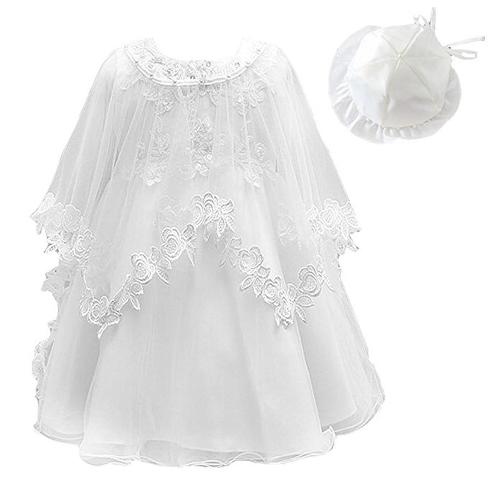kids Showtime Infant Newborn Baby Christening Dress Hat Shawl Size 0-18M