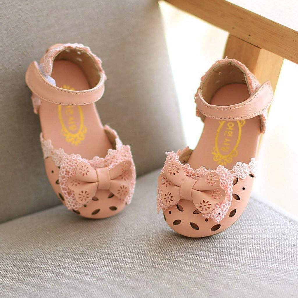 Seaintheson Baby Shoes Toddler Infant Kids Baby Girls Elegant Single Shoes Bowknot Flower Princess Party Sandals