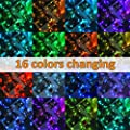 Ollny Outdoor String Lights 66ft 200 LEDs 16 Colors Changing Christmas String Fairy Lights 4 Modes with Remote Control Timer Function Connectable Plug in for Bedroom Wedding Party Indoor Waterproof