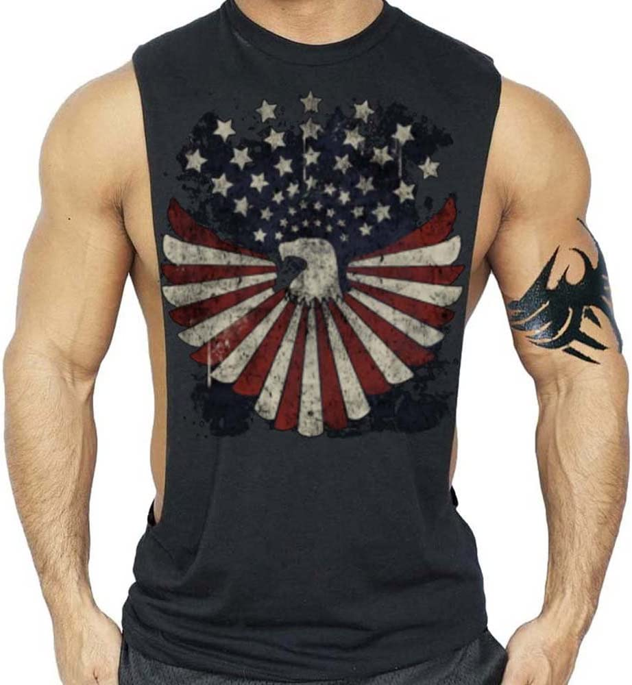 American Eagle US Bandera Patriótica camiseta Culturismo Tank Top ...