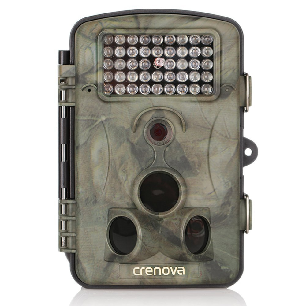 Crenova Game and Trail Hunting Camera 12MP 1080P HD With Time Lapse 65ft 120° Wide Angle Infrared Night Vision 42pcs IR LEDs 2.4'' LCD Screen Scouting Camera Digital Surveillance Camera by Crenova