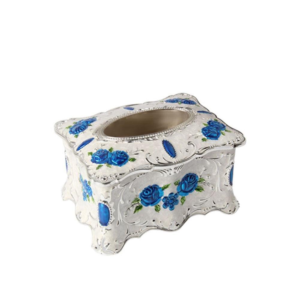 Creative Design Tissue Box Cover Zinc Alloy Ornaments for Home Office Decor , D