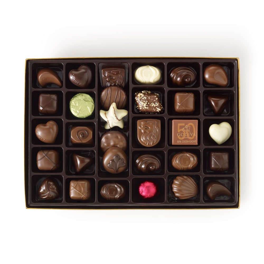 Amazon.com : Godiva Chocolatier Red Ribbon Ballotin Valentines ...