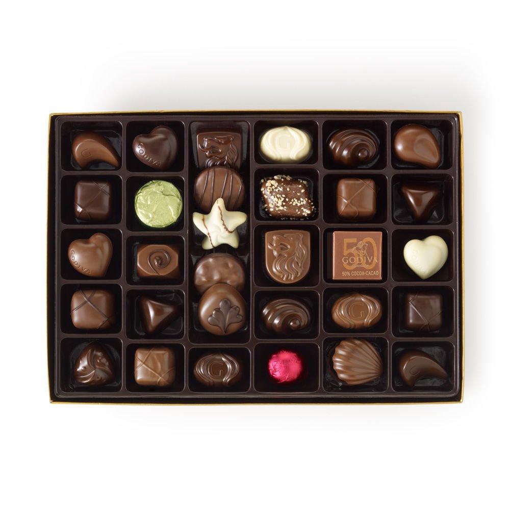 Godiva Chocolatier Gold Ballotin Candy, Happy Birthday, 36 Count by GODIVA Chocolatier (Image #2)