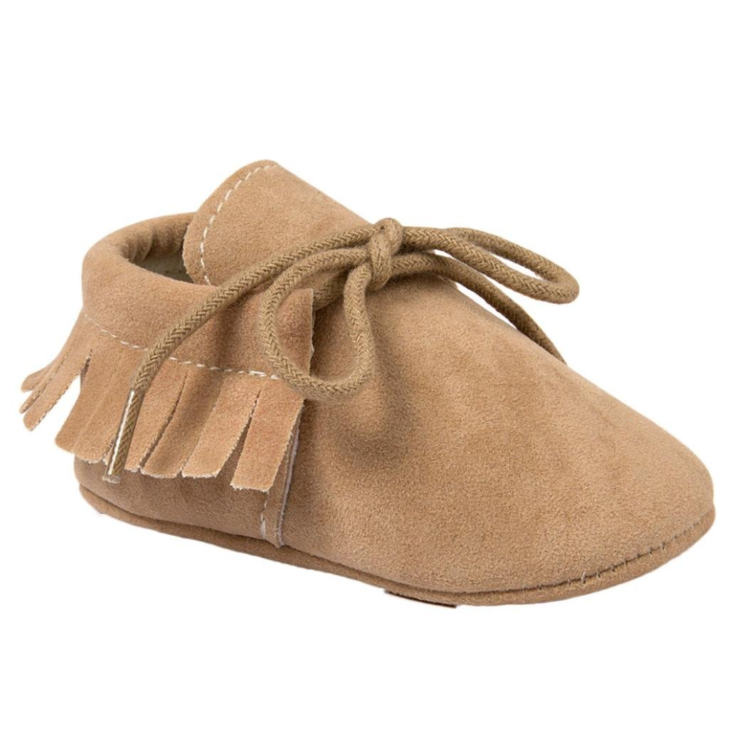 Dacawin Baby Boys Girls Tassels Bandage Casual Shoes