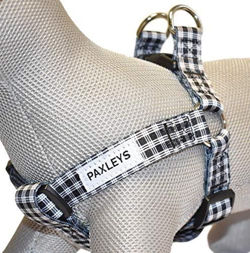 Paxleys Arnés para perro de tartán, color blanco y negro, tallas ...