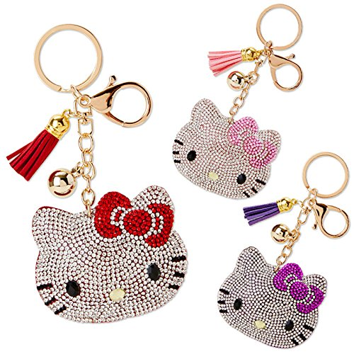 Sanrio Hello Kitty Glitter Keychain Purple From Japan New (Hetalia America Keychain)