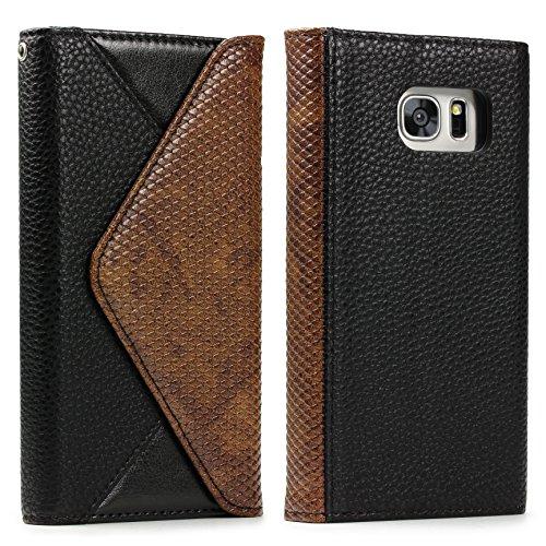 Samsung Urcover Pochette en Tout S7 Un Housse Chic Portefeuille Edge Galaxy X6Hwfq