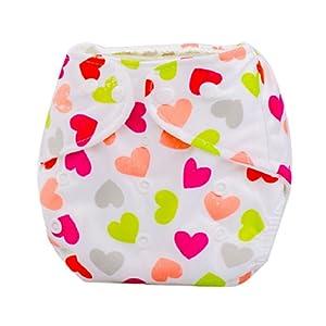 Ularma Couches bébé nouveau-né été couvre couche lavable réutilisable réglable