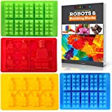 Best Candy Molds & Ice Cube Mold for Lego Lovers with Bonus Recipe eBook by Americas Best Buys (4-Pack)