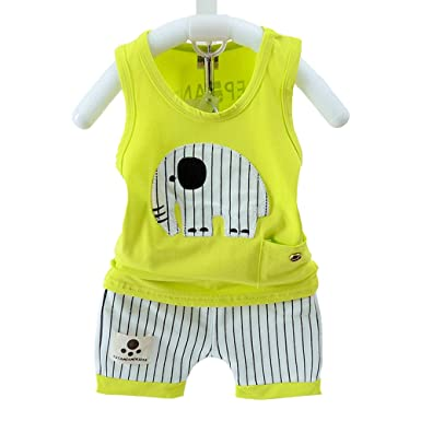 fe5f723fa Amazon.com  JoJo Home 2pcs Kids Baby Boy Toddler Cute Summer Cotton ...