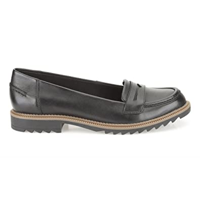 1a58a643f70 Clarks Griffin Milly Black Leather  Amazon.co.uk  Shoes   Bags