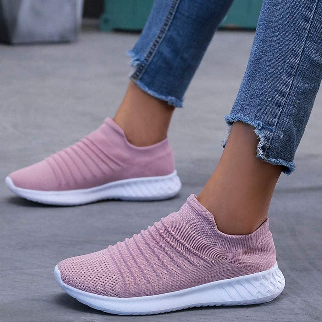KEYIA Femme Baskets Mode Couleur Unie Respirante Antid/érapante en Cours Dex/écution Classic Sneakers Basses Mesh Chaussures de Sports