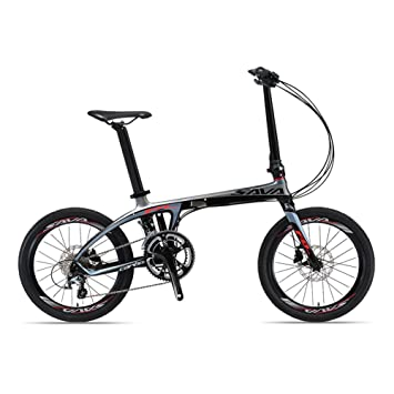 "SAVA 20"" Bicicleta Plegable de Fibra de Carbono SHIMANO 105 5800 22-Velocidad Sistema"