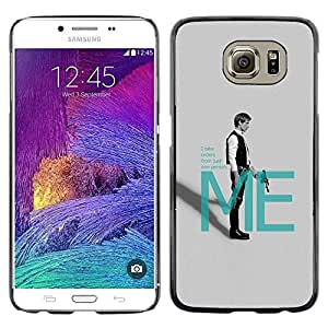 A-type Arte & diseño plástico duro Fundas Cover Cubre Hard Case Cover para Samsung Galaxy S6 (Han Solo Mí)