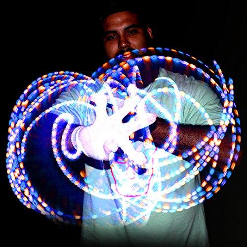 GloFX Lux Glove Set - Light Up LED Rave EDM -