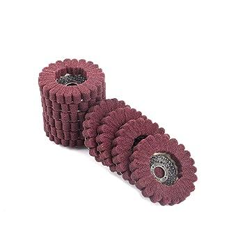 Amazon.com: 5 discos de fibra de pulido abrasivo de nailon ...