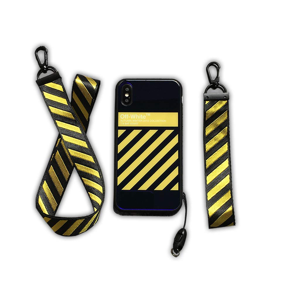 cheap for discount 2f63f b9c52 Amazon.com: Off White OW Diagonal Lines Logo Mobile Phone Case for ...
